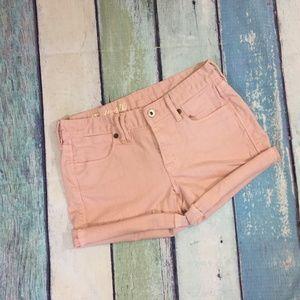 Madewell BlushPink Denim Cut Off Shorts 24